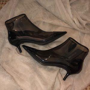 Zara Trafaluc patent leather booties
